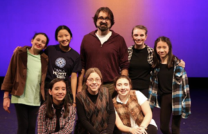 Denver and the cast of the Middle school Shakespeare performance